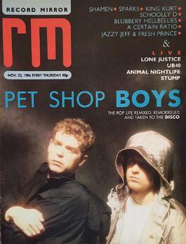 1986-11-22 RM 1 cover Pet Shop Boys