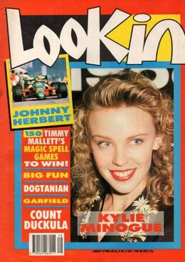 1989-07-15 Look-In 1 cover Kylie