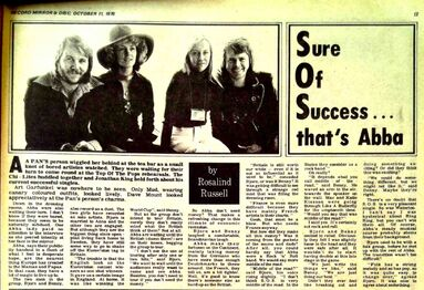 ABBA S O S feature Record-Mirror-1975-10-11-13