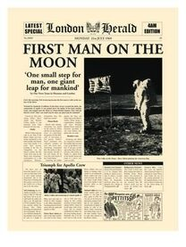 1969-07-21 London Herald 1 cover man on moon