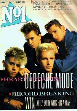 1985-10-19 No1 1 cover Depeche Mode