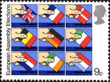 1979-05-09 European elections stamp