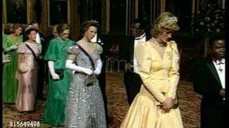 Apr 16, 1985 Princess Diana at Malawi state visit to London