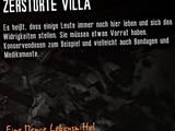 Zerstörte Villa