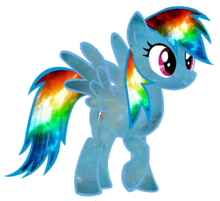 Galaxy Rainbow Dash Vector Better One In Desc By Minkystar D79j4vp