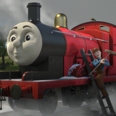 James in The Great Race