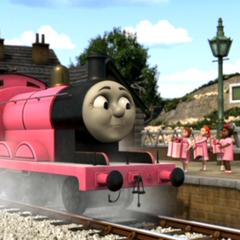 James in his pink undercoat