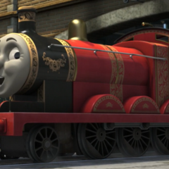 James in his Best Decorated Engine livery