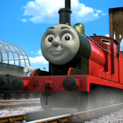 James in his red livery in The Adventure Begins