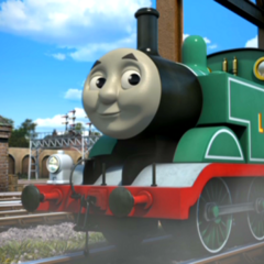 Thomas in his teal-green livery