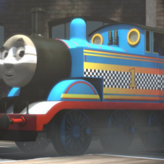 Thomas with racing stripes