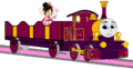 Lady with her Open-Topped Carriage & Vanellope travelling on it.png