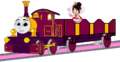 Lady with her Open-Topped Carriage & Vanellope travelling on it (Mirrored).png