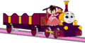 Lady with her Open-Topped Carriage & Vanellope beside her.png