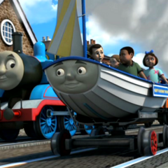 Skiff in his new livery with Thomas