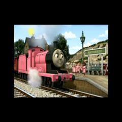 James in a pink undercoat
