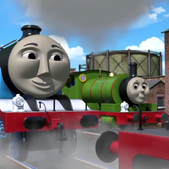Gordon with Edward and Percy