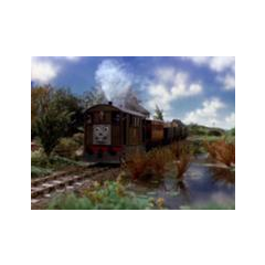 Toby on his old traway