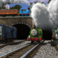 Sidney with Percy and Emily