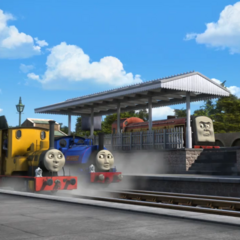Norman with Duncan and Sir Handel