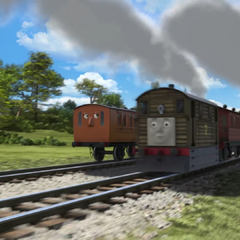 Henrietta with Toby and Clarabel