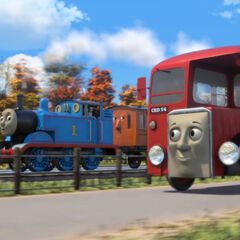 Bertie with Thomas and Annie