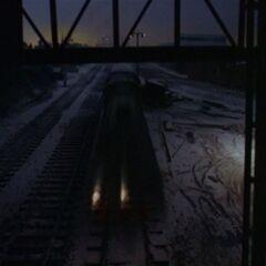 Henry pulling The Flying Kipper in a deleted scene