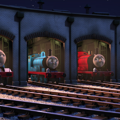 Gordon with Edward and James