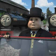 Donald and Douglas with Sir Topham Hatt
