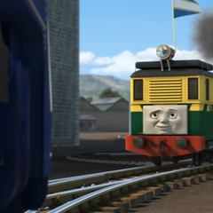 Philip wearing Sodor's flag