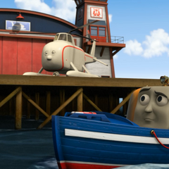 Captain with Harold