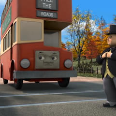 Bulgy in CGI with Sir Topham Hatt