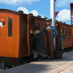 Annie with Sir Topham Hatt