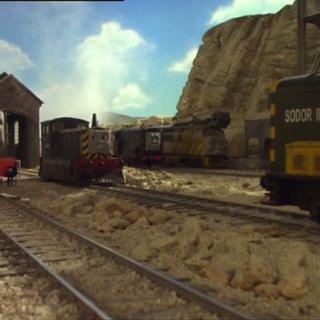 Diesel 10 with Diesel, Dennis, Mavis, and 'Arry/Bert