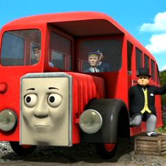 Bertie with Sir Topham Hatt