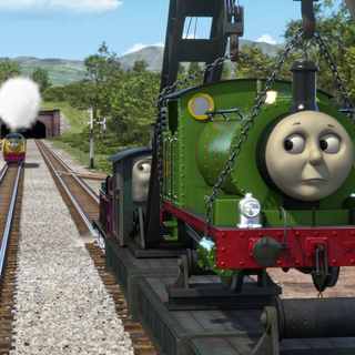 Jerome lifting Percy