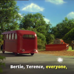 Terence with Bertie
