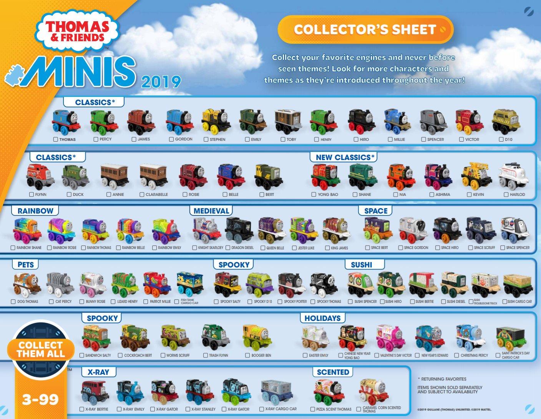 Thomas /& Friends Minis 3 Pack Rainbow Thomas Bunny Rosie Victor