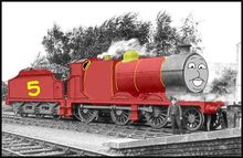Luke the red engine
