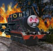 Thomas the satanic tank egine & friends