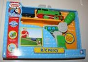Trackmaster Tired Percy with Blue Coach and Breakvan