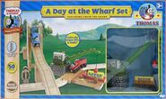 Island of Sodor James and Thomas the train Wooden Railway a Day at the Wharf set Colin the crane toy-1-