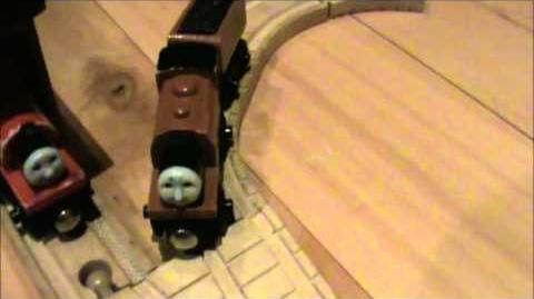 Thomas wooden railway compaction Oliver Duck( at the time1646010)