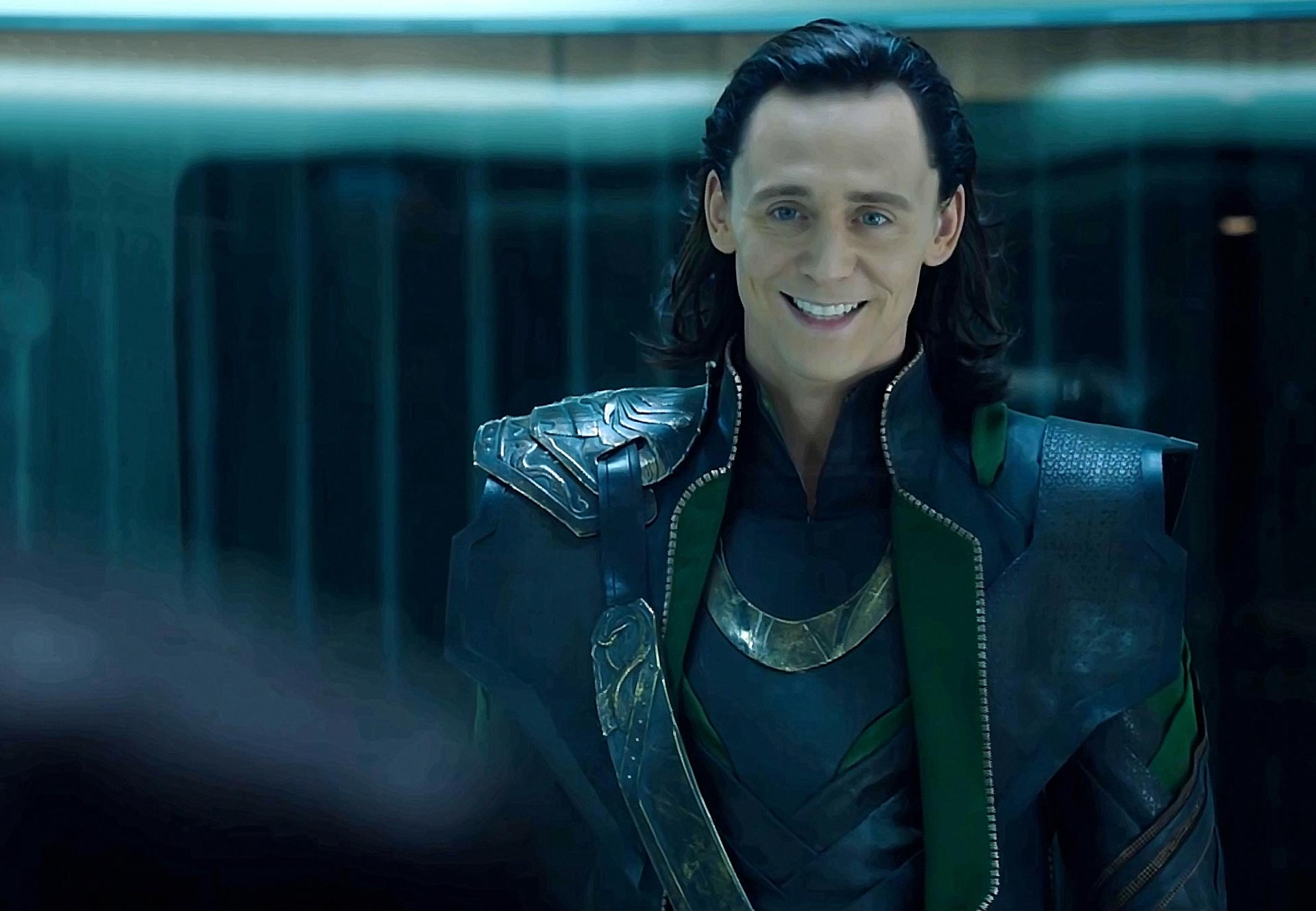 Loki smiling and looking sexy