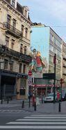 Wall-painting-complete-fresque-thorgal-achevée-bruxelles-BD-le-lombard