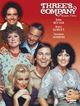 Three's Company Season 3 DVD cover