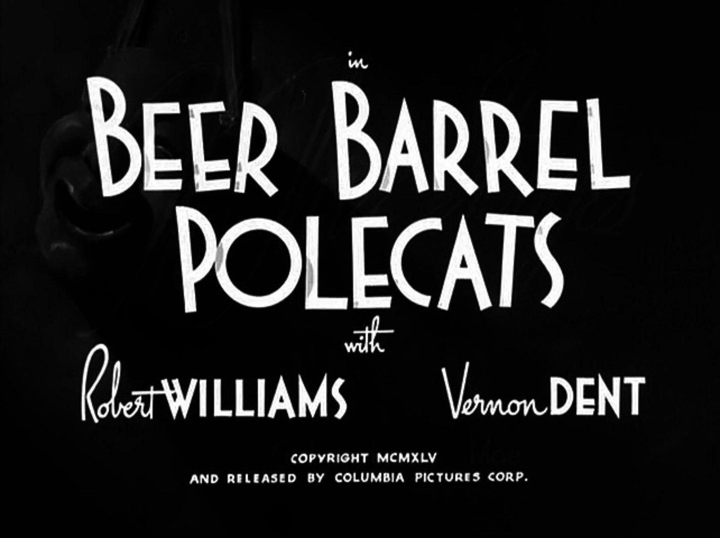 Image result for The Three Stooges: Beer Barrel Polecats (1946)