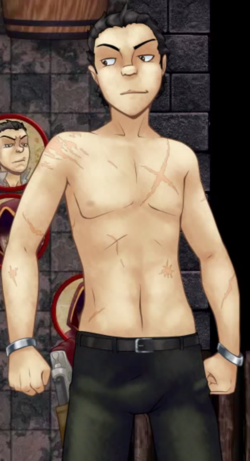 Thog shirtless