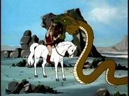 Thundarr vs Lion-snake