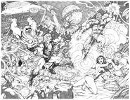 Thundarr Fights Gemini Drawing